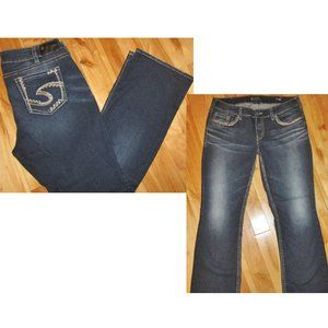 SILVER SUKI MID BOOT CUT BLUE JEANS SIZE 18 NEW
